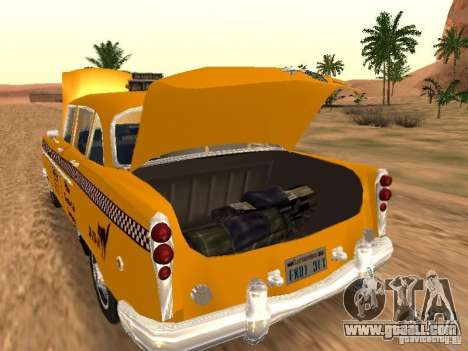 Checker Marathon Yellow CAB for GTA San Andreas back left view
