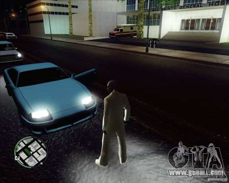 White costume for GTA San Andreas forth screenshot