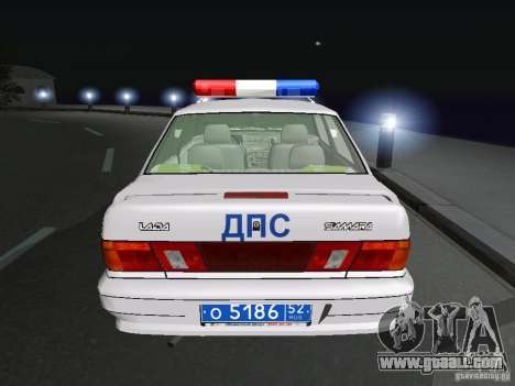 VAZ 2115 Police DPS for GTA San Andreas back left view