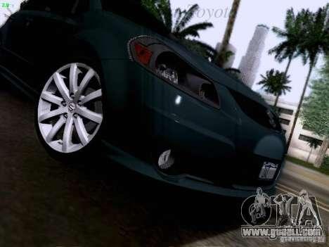 Suzuki SX4 Sportback 2011 for GTA San Andreas upper view