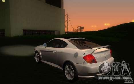 Hyundai Tiburon V6 Coupe 2003 for GTA San Andreas back left view