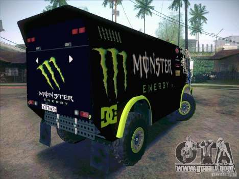 KAMAZ Master 4911 Monster Energy for GTA San Andreas right view