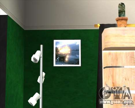 New Interior of CJs House for GTA San Andreas third screenshot