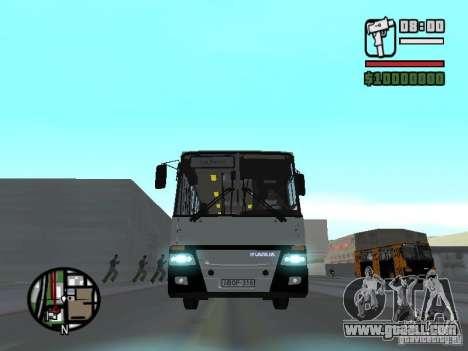 Ikarus 260.06 for GTA San Andreas inner view