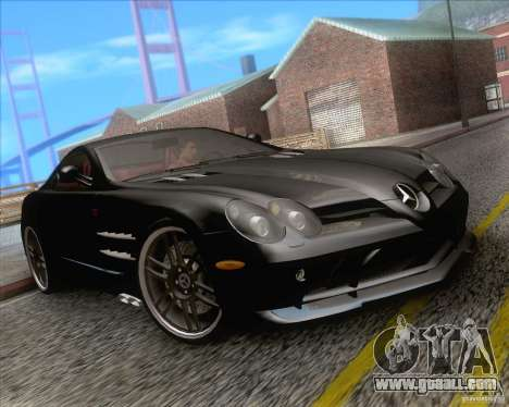 Mercedes SLR McLaren 722 Edition for GTA San Andreas right view
