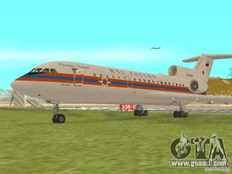 Yak-42 EMERCOM of Russia for GTA San Andreas left view