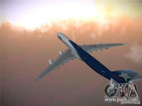 Airbus A340-600 LAN Airlines for GTA San Andreas back view