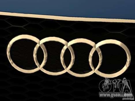 Audi TT RS for GTA San Andreas upper view