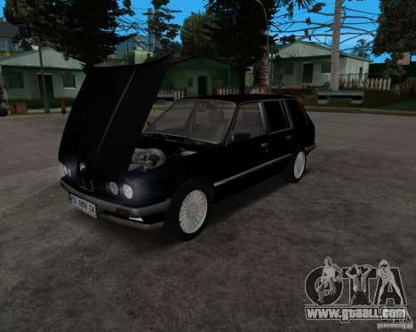 BMW 320i Touring 1989 for GTA San Andreas back left view