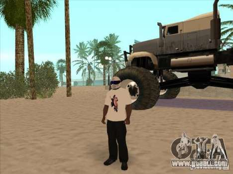 A t-shirt with a picture of Michael Jackson for GTA San Andreas forth screenshot