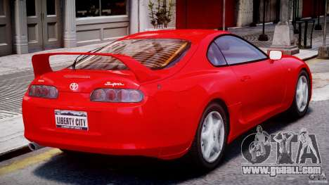 Toyota Supra MKIV 1995 v2.0 Final for GTA 4 right view