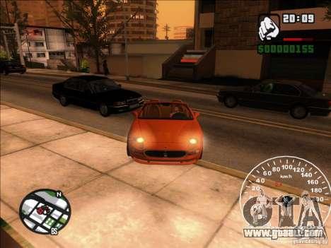 Spyder Cambriocorsa for GTA San Andreas side view