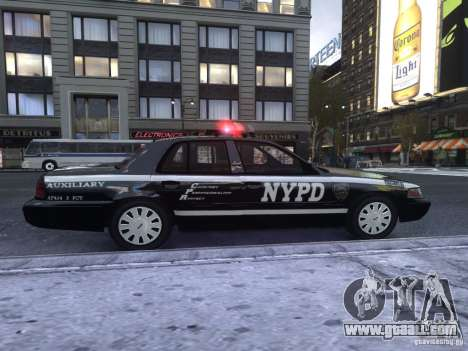 Ford Crown Victoria NYPD Auxiliary for GTA 4 back left view