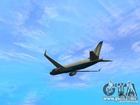 Boeing 767-300 United Airlines New Livery for GTA San Andreas back view