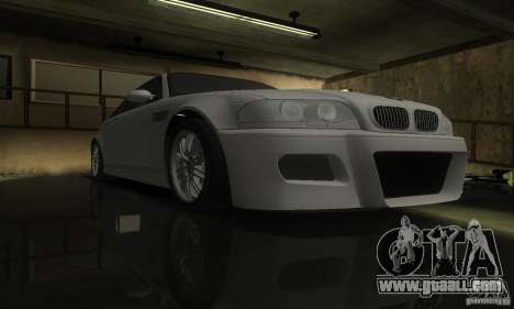 BMW M3 Tuneable for GTA San Andreas back view