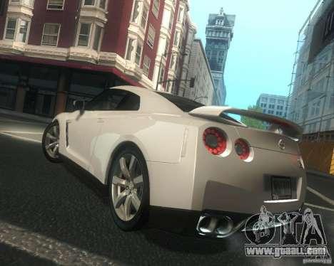 Nissan GTR R35 Spec-V 2010 Stock Wheels for GTA San Andreas