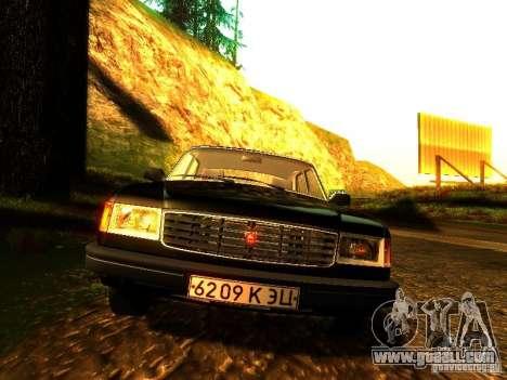 Volga GAZ 31029 for GTA San Andreas inner view