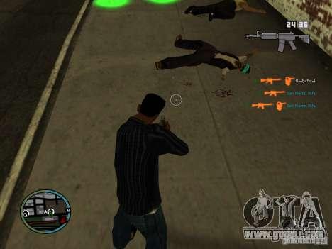 KILL LOG for GTA San Andreas forth screenshot