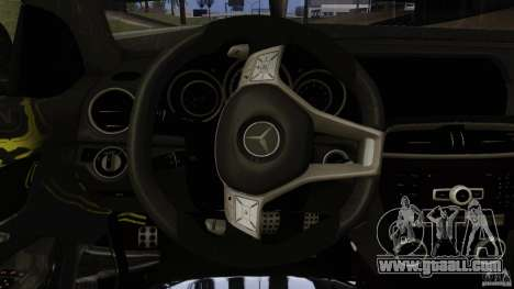 Mercedes Benz C63 AMG Black Series 2012 for GTA San Andreas bottom view