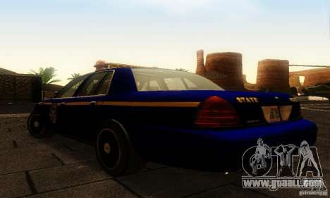 Ford Crown Victoria New York Police for GTA San Andreas left view