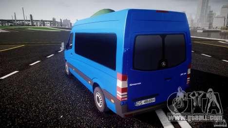 Mercedes-Benz ASM Sprinter Ambulance for GTA 4 back left view