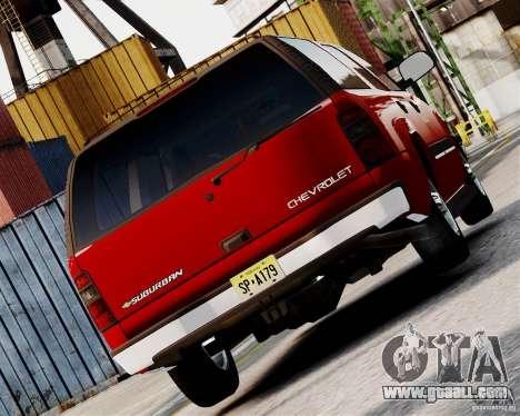 Chevrolet Suburban 2006 V1.1 CIVIL for GTA 4 back left view