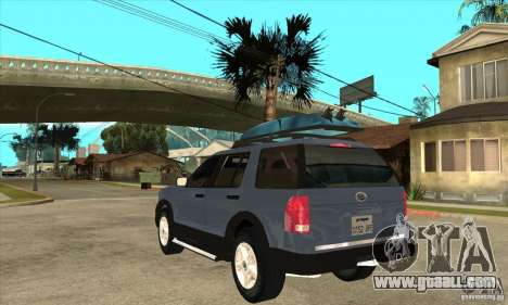 Ford Explorer 2004 for GTA San Andreas back left view