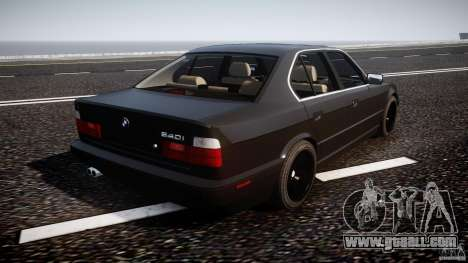 BMW 5 Series E34 540i 1994 v3.0 for GTA 4 upper view
