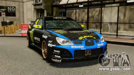 Subaru Impreza WRX STI GD Gymkhana Ken Block for GTA 4