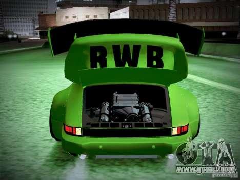 Porsche 911 Turbo RWB Pandora One for GTA San Andreas upper view