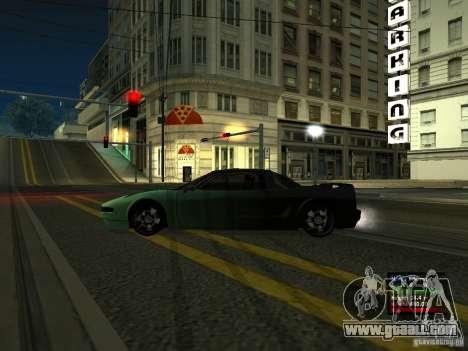 Teal Infernus for GTA San Andreas left view