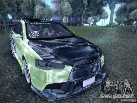 Mitsubishi Lancer Evolution X - Tuning for GTA San Andreas right view