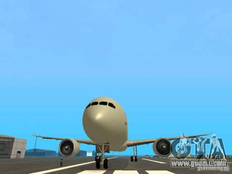 Boeing 787 Dreamliner Air Canada for GTA San Andreas side view
