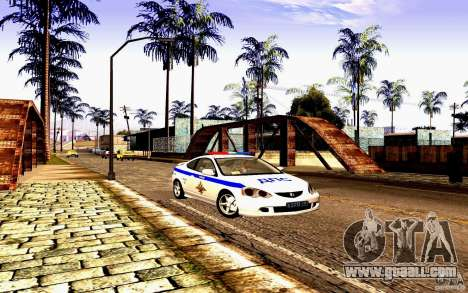 Acura RSX-S Police for GTA San Andreas back view