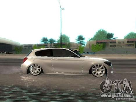 BMW M135i for GTA San Andreas back view