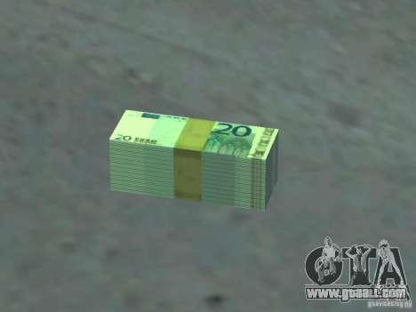 Euro money mod v 1.5 20 euros I for GTA San Andreas
