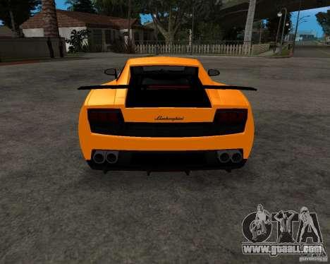 Lamborghini Gallardo LP570 Superleggera for GTA San Andreas side view