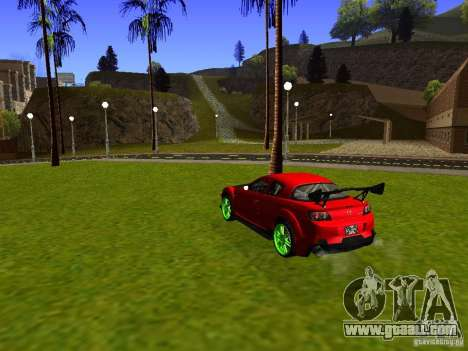 Mazda RX-8 R3 Tuned 2011 for GTA San Andreas back left view