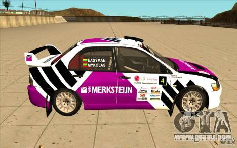 Mitsubishi Lancer Evo IX in the new vinyl for GTA San Andreas left view