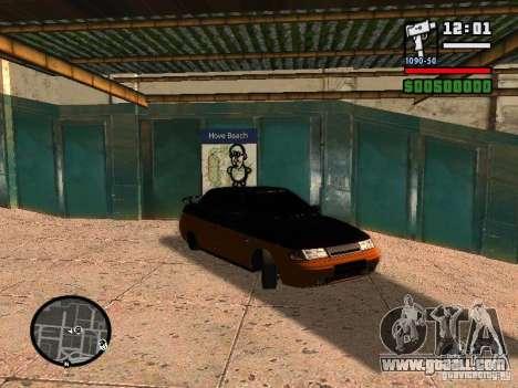 VAZ 2110 HERTZ-style (D.A.G) Orange for GTA San Andreas left view