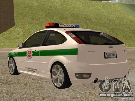 Ford Focus ST Policija for GTA San Andreas back left view