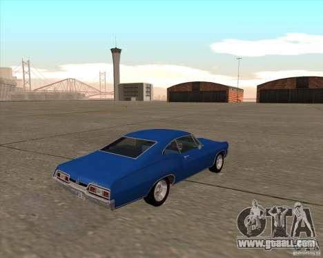 Chevrolet Impala 427 SS 1967 for GTA San Andreas back view