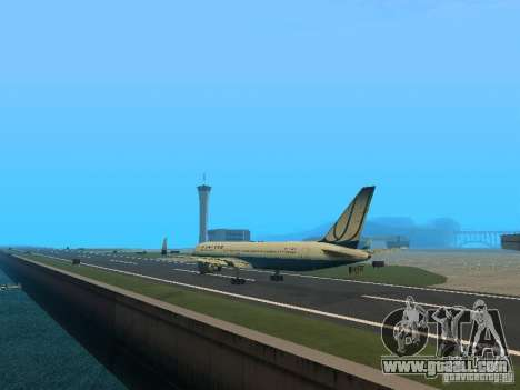 Boeing 767-300 United Airlines New Livery for GTA San Andreas back left view