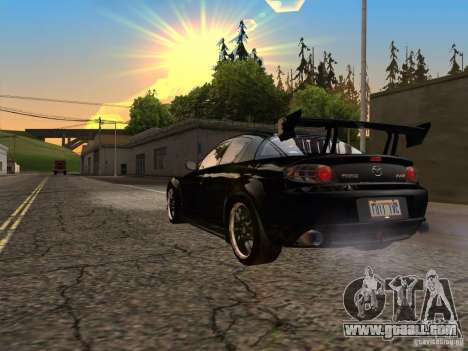 Mazda RX-8 Varis Custom for GTA San Andreas back left view