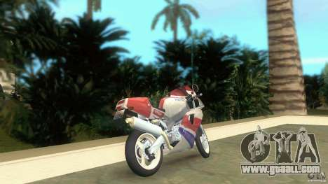 Yamaha FZR 750 white lighted for GTA Vice City back left view