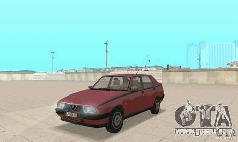 Alfa Romeo 75 for GTA San Andreas