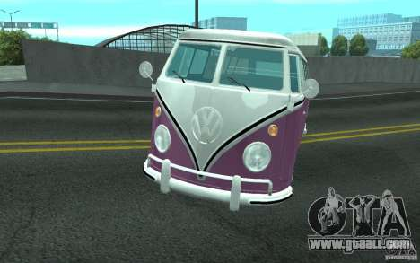 Volkswagen Transporter T1 SAMBAQ CAMPERVAN for GTA San Andreas bottom view