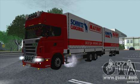 Trailer for Scania R620 for GTA San Andreas inner view