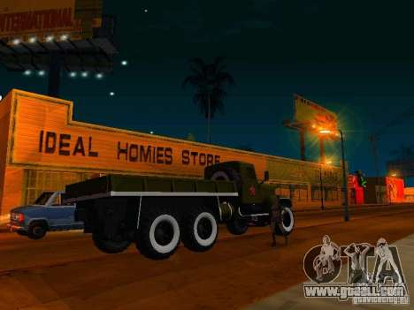 KrAZ truck Parade for GTA San Andreas left view