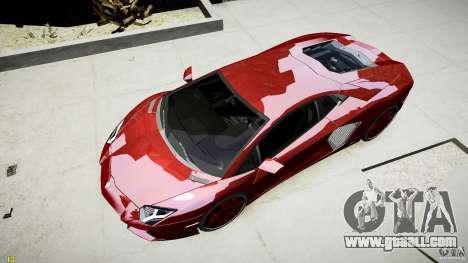 Lamborghini Aventador LP700-4 for GTA 4 back view